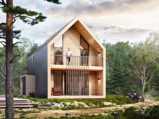 Продам два каркасных дома в стиле барнхаус общей площади 158 м2 каждый с дачным участком 3 сотки!