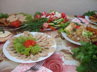 Deservirea culinara a sarbatorilor. Приготовим еду на вашем празднике