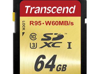 Для 4К! Скоростные Transcend SDXC 64gb u3 ! - 630 lei, SanDisck SDXC 64gb u1 80 Mb/sec - 540 lei!