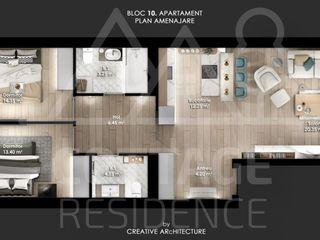 Apartament 3 odăi, 650 €/ mp