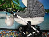 Красивая колясочка 2 в 1 Adamex car baby alu