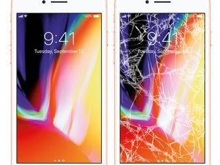 Schimbarea profesionala a sticlei iPhone 5/5S/5C/SE,6/6 Plus/6S/6S Plus, 7/7 Plus, 8/8 Plus, X