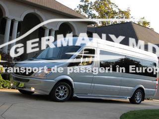 Germania, Olanda, Belgia, Austria, Cehia, Slovacia, Elvetia, Luxemburg. Transport de persoane zilnic