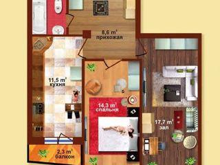 Reducere !!! apartament cu 2 odai in casa noua in gratiesti numai 28900 euro