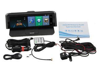 Видеорегистратор на торпеду 4 в 1 Регистратор,GPS Навигатор,Камера заднего вида, Android,4G