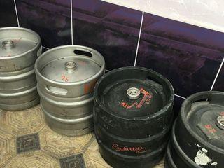 Butoaie din inox, 30 l, de la bere, în stare foarte bună, 750 lei fiecare, am 2 doar. Puteți instala