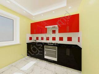 Bucatarie ps iulia 2.6m black/red (2) în credit cu livrare gratuită