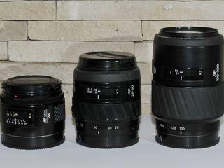 Minolta AF 24 mm  f 2.8 для Sony + Minolta AF 28-80 mm  f/ 4-5,6 + Minolta AF 100-300 mm  f/ 4.5-5,6