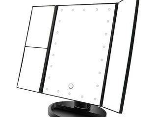 Стильное трехстворчатое зеркало для макияжа Superstar Magnifying Mirror с Led подсветкой.