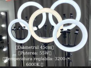 Lampa circulara LED, 45 cm->55W, 36 cm->35W.
