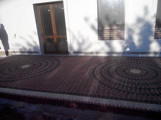 Amenajarea pavajului, укладке тротуарной плитки