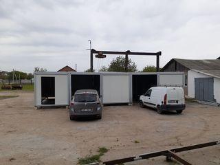 Spălătorie auto la cheie din containere modulare.