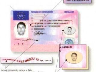 Permis de conducere romanesc , buletin ro, pasaport ro. Rapid !