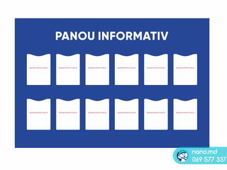 Panou informativ, placat informational, placuta, autocolant
