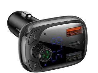 Fm transmiter hands free call , aux audio bluetooth transmiter