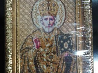 Icoana din biser - lucru manual. Sfântul Nicolae