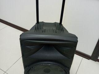 Boxa cu acumulator ,,Eucraft '',2  microfoane , bluetooth, usb, cu puterea de 250 w !!!  made in ue