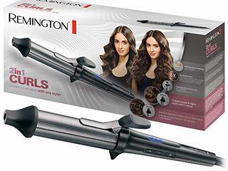 Ondulator Remington 2in1 Curls CI67E1, 25-38 mm, 150-200C, invelis ceramic, Negru