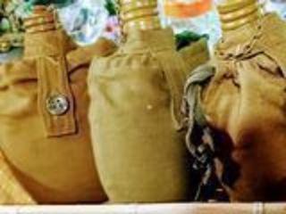 Фляга армейская с чехлом (солдатская фляжка)/sticlă armată cu capac (sticlă soldat)