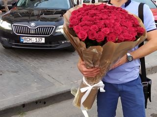 Голландские и молдавские розы по оптовым ценам! Бесплатные доставки букетов из 101 розы!