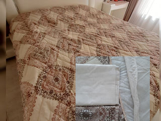 Set de vara-отличный летний набор. Одеяло летнее-пододеяльник , 2 наволочки, простынь.