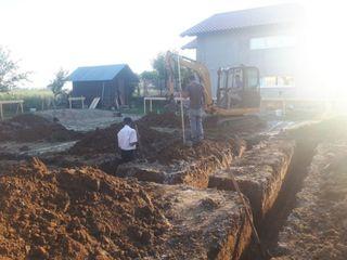 Lucrari cu excavatorul