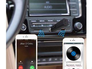 Bluetooth аудио приемник для автомагнитолы и проводных колонок, наушников
