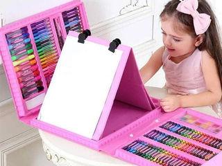 Набор для рисования детского творчества в чемодане из 208 предметов + доставка