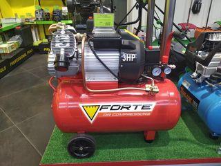 Compresor 50 litri forte vfl-50, 2 cilindre / livrare gratuită / garanție 1 an