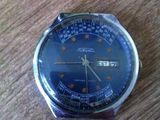 Часы Ракета СССР механика двойной календарь работают точно.