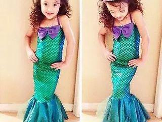 Новое платье русалочка на 4 года