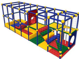 Лабиринт детский игровой, горка детская, сухой бассейн, игровая комната, детский мягкий конструктор