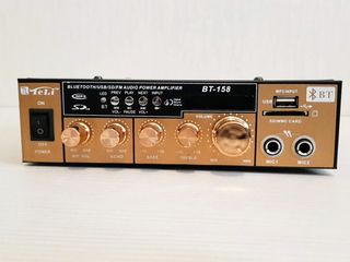 Amplificator. Auto(12V) + priză(220V). Bluetooth+FM+USB+SD/MMC+Karaoke. Nou. 690 lei