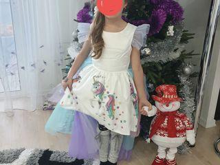 Платье единорог прокат/ rochita unicorn  chirie