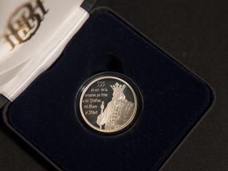 50 lei — Argint — 555 ani  de la urcarea pe tron Ştefan cel Mare  2012 MC