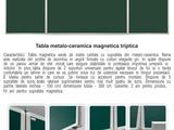 Tabla scolara metalo-ceramica magnetica triptica/Школьная магнитная доска для письма мелом 3200 lei