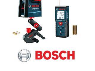 Bosch лазерный уровень и лазерная рулетка