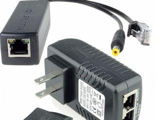 Active PoE Injector 48V + Splitter 12V, 4-е комплекта !!