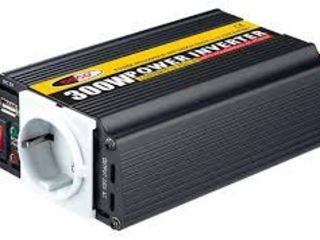 Преобразователи Тока (Инверторы) 12V/24V -220 V  150Вт 300Вт 500Вт 1000W Вт 2000Вт 3000Вт