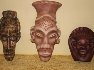 Декоративные маски на стену,охраняющие дом приносящие здоровье удачу богатство -300 лей за все..