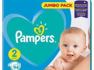 Pampers подгузники Jumbo 2, 3-6 kг, 94 шт.