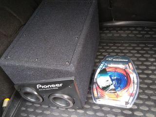 Pioneer активный сабвуфер с встроенным усилителем и новым комплектом проводов для подключения