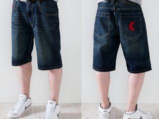 Шорты из Америки оригинальные Karl Kani Gothic Bermuda Shorts Super Blue