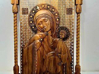 В наличие резная ореховая*Богородица Отрады и Утишение*эксклюзив