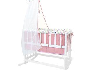Детская кроватка+комплект постельного белья. Pătuț balansor Chisinau,Moldova. LIvrare gratuita