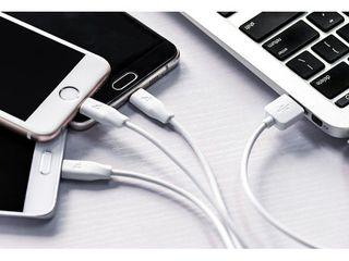 Cablu 3 in 1 Rapid Charge Lightning + Micro USB + Type-C. Livrarea gratuita aceeasi zi!