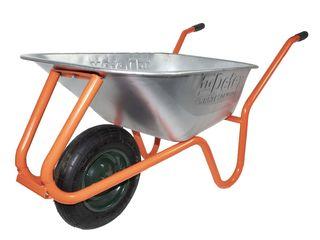 Roaba detex wheelbarrow factory d2, capacitate 100l, orange, cuva galvanizata