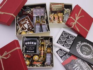 подарки любимым мужчинам к 23 февраля  шокобоксы ,Есть готовые