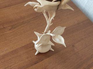 Sulptură în lemn Trandafir 22 cm (h)