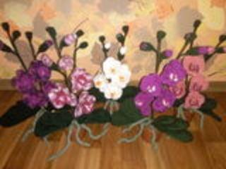 вязаные орхидеи 35 см
